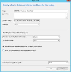 Compliance Rule