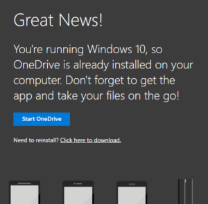 Start OneDrive